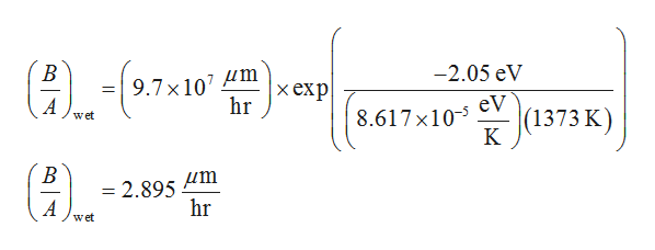 В -2.05 eV 9.7 x 107 Hm hr |хеxp| ( 8.617x101373 K) eV wet KК В = 2.895 hr A wet