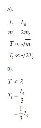 А). т 3 2m, Тa m В). Тос 1 Т. 3 1 -Т.