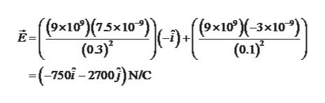 """(9x10)(75x10"""") (0.3) -750-2700)N/C (ex10°)(-3x10*) (0.1) Вx10"""