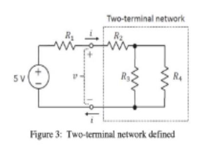 Two-terminal network R2 5 V Figure 3: Two-terminal network defined