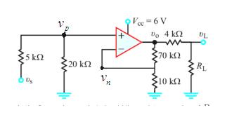 Vec 6 V Do 4 kn 70 k 5 kn 20 k : RL 10 kn