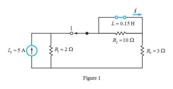 i L 0.15 H R 10 R 2 I 5 A R =3Q Figure 1