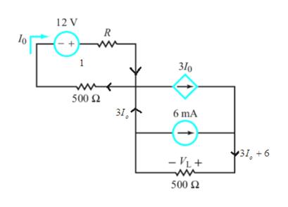 12 V R 1 310 wr 500 Q 6 mA 31,+6 -VL 500 Ω