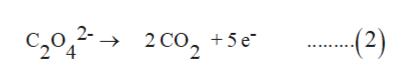 c2o22Co2 2 CO, +5 e -(2)