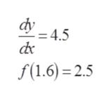 dv = 4.5 f(1.6) 2.5