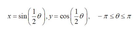 (들아 x = sin θ y = cos -π<0<π