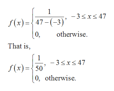 1 -3x 47 f(x)47(-3) otherwise 0, That is, 1 -3xs 47 f(x)50 0, otherwise