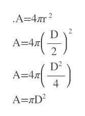 A=47r2 2 A-4T 2 A 47 4 A=rD2