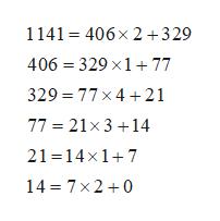 1141 406x 2 +329 406 329 x177 329 77x 4 21 77 21x 314 21 14x17 14 7x2 0