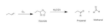 H20/Zn O3 H H Methanal Propanal Ozonide