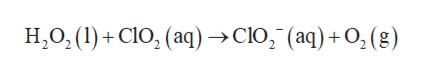 H,O, (l)CO, (aq)->Clo, (aq) +O, (g)