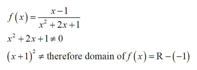 х-1 f(x) 2x+1 x 2x1 0 (x1therefore domain off (x) =R - (-1)