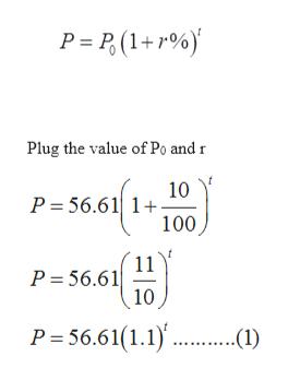 P P ( Plug the value of Po and r 10 P 56.611+ 100 11 P 56.61 10 P 56.61(1.1) .1)