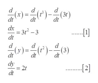 d )-)() (1) dt (x) dt 3r2 -3 dt dt dx 음아올마음이 d d -(y) dt )=)() (3) dt dt dy = 2 dt