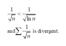 1 /In n 1 is divergent Vn and