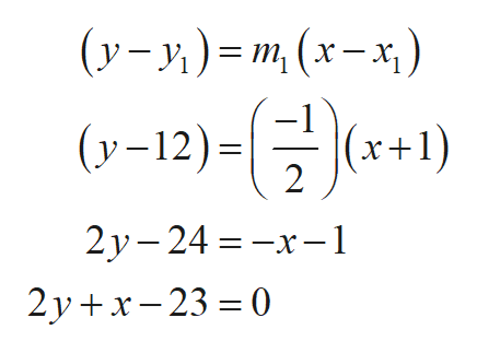 (у-у) -m, (х-*) (у-12): (х+1) 2 %3D —х— 1 2у - 24 2у +x-23 %3D0