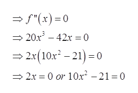 """""""(x)0 20x3 42=0 2x(10x-21)0 0 or 10x2 - 21 = 0 2x"""