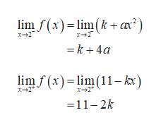 lim f(x)li(k+ax) x-2 k4a lim f(x)lm11 kx) x2 x--2 11-2k