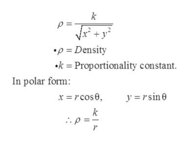 k p= p Density k= Proportionality constant In polar form: y=rsin k