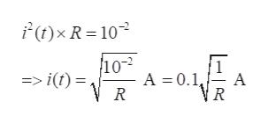 F(t)x R = 10 10-2 A 0.1 R => i(t) = A