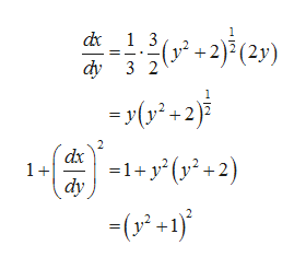 +2)(2) d 1 3 dy 3 2 -y(2 dx 1+ -1+y y+2) dy