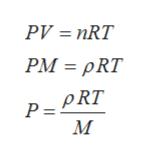 PV = nRT РМ 3 PRT pRT Р- М