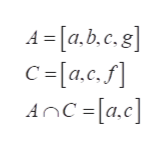A [a.b.c.8] C =[a.c.f] AnC=[a.c]