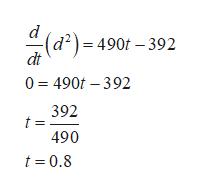 (d2)=490 -392 dt 0 490t 392 392 490 t 0.8