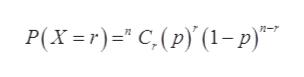 P(X=r) C,(p) (1-p) n-7