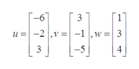 -6 1 u -2  ,v -1w 3 3 -5 4