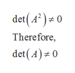 det(A)0 Therefore, det(A) 0