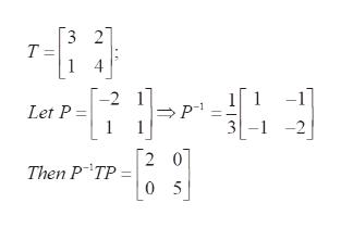 3 2 Т- 1 4 -1 3-1-2 -2 1 1 Let P 2 0 Then P TP = 0 5