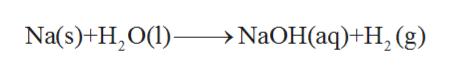 Na(s)+H2O() > N2OH(aq)+H (g)