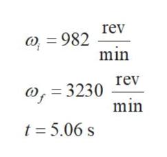 rev O 982 min rev = 3230 min t 5.06 s
