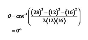 0-cos(28)-(12)-(16)'' 2(12)(16) =0°