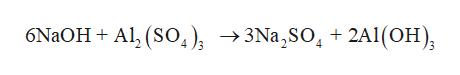 6NaOH Al, (So) 3Na,SO +2A1(OH)