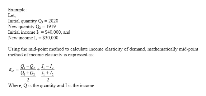 Answered Explain Income Elasticity Of Demand And Bartleby