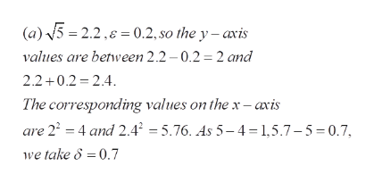 (a)5 2.2, 0.2, so the y - axis values are between 2.2 0.2 2 and 2.2+0.2 2.4 The corresponding values on the x -axis are 22 4 and 2.42 =5.76. As 5-4 1,5.7-5=0.7, we take 8 =0.7