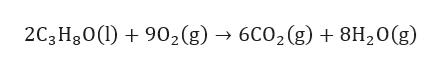 2C3H30()902(g) 6C02 (g)8H20(g)
