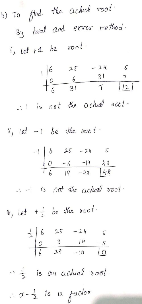 Answered: A) List All Possible Rational Roots.,b) | Bartleby