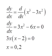 dy d -(x-3x*) dx d dy 3x6x0 dxc 6х 3x(x-2)0 х-