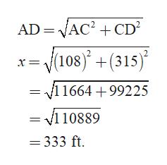 AD VAC2CD 108 +(315) /11664+99225 = v110889 = 333 ft.