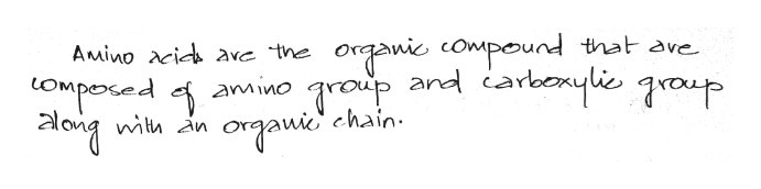 organic compound that ave .group organie' Amino acida ave the and carbonylic graup COmposed of amino long chain. with in