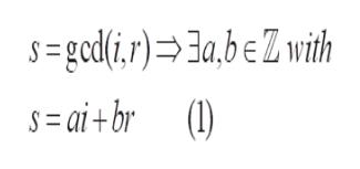 =gcd(i,r)>3a,beZwith S=ai+br ()