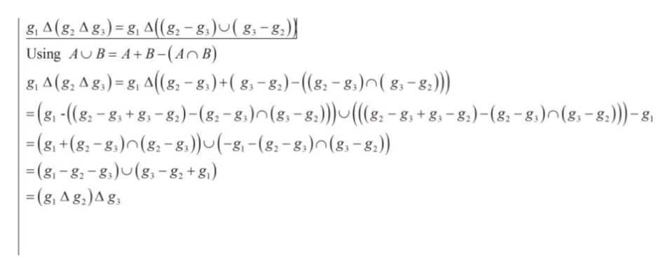 |g A (g, A g,) = g, A((8-8)u(8-8) A+B-(An B) Using AB , A(g, Ag,) = g, A(g -8.)+( g-8)- ((g-g.) ( g, - s) |(g, -(8-8, +8,-8,) - (8. -8)n(8,-8) ((&-8, +8,-8)- (8-8)n(8,-8)-g (&, +(8-8,)(g-8))(-g-(8-8)n (g,-8) (g-g-8(g -8 +g) (g, Ag,)Ag