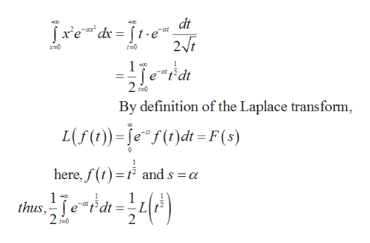 dt xedr te 27 x-0 t-0 +0 -co 2 -0 By definition of the Laplace transform L(f))=ef(0)dt=F(s) 0 here,f(t and s a 1 2 r0 2