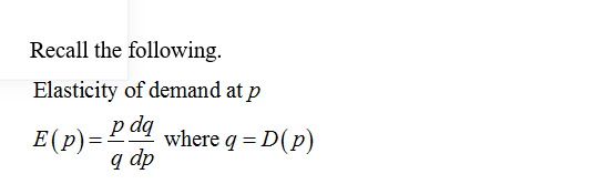Answered Given The Demand Function D P 325 Bartleby