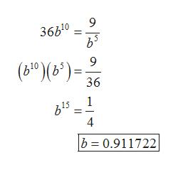 9 36b10 9 (610)(6)= 36 1 4 b 0.911722 a a ON