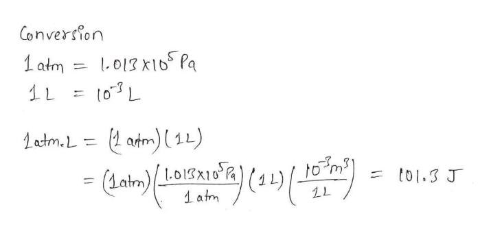Conversion 1atm 013 x10 Pa Latm.L2 atm) 11) LO1SK10 Latm to1.3 J 1atm