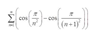 Σ - cos cos (n+ 1) 1